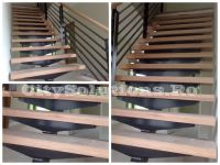 single stringer stair with metal railing
