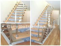 side stringer stair wood steps - sivctssmtp